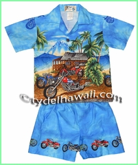 Hawaiian Boy Cabana Set - 355Blue