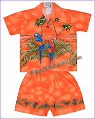 Hawaiian Boy Set - 453ORange