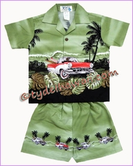 Hawaiian Boy Set - 463Green