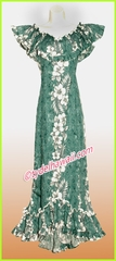 Hawaiian Elegant Dress- 805Green