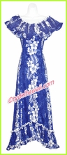 Hawaiian Elegant Dress - 805Navy