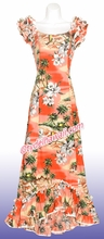 Hawaiian Island Dress - 332Pink