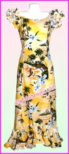 Hawaiian Island Dress - 332Yellow