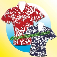 Hawaiian Lady Blouse - 354Navy