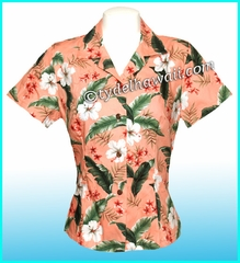Hawaiian Lady Blouse - 395Coral