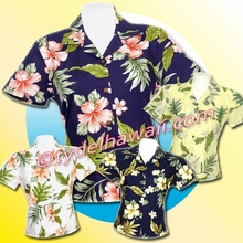 Hawaiian Lady Blouse - 403Navy