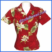 Hawaiian Lady Blouse - 413Red