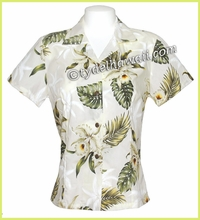 Hawaiian Lady Blouse - 413White
