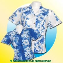 Hawaiian Lady Blouse - 4340White