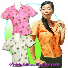 Hawaiian Lady Blouse - 435Orange