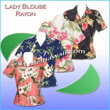 Rayon Hawaiian Lady Blouse