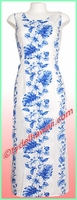 Hawaiian Long Tank Dress -4340White