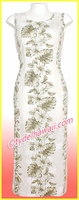 Hawaiian Long Tank Dress - 434White