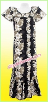 Hawaiian Muumuu Full Length - Black