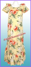 Hawaiian Muumuu Full Length - Yellow