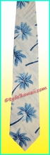 Hawaiian necktie - 485White/Blue