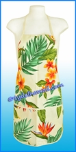 Hawaiian print Apron - 107Cream