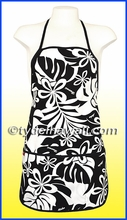 Hawaiian Print Apron - 402Black/White