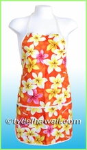 Hawaiian Print Apron - 303Orange