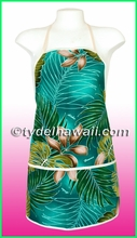Hawaiian Print Apron - 501Teal