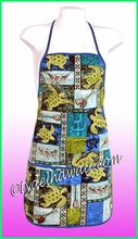 Hawaiian Print Apron - 701Blue