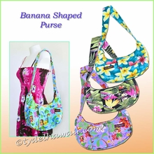Hawaiian print Banana Shaped Purse