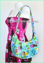 Hawaiian Print Banana Shaped Purse - 312Aqua