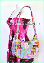 Hawaiian Print Banana Shaped Purse - 313Purple
