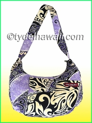 Hawaiian print Banana Shaped Purse - 412Purple