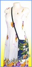 Hawaiian Print Cross Body Side Bag - 113Navy