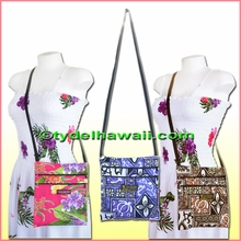 Hawaiian Print Cross-Body Side Bag