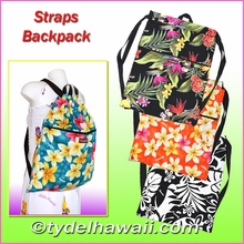 New ! Hawaiian Print Straps Backpack