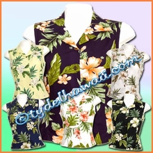 Hawaiian Sleeveless Blouse - 403
