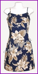 Hawaiian Sun Dress - Navy
