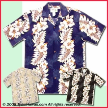 Hibiscus & Leaf  Panel  Hawaiian Shirt