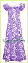 Hibiscus Lei Panel Classic Aloha Dress - 2130Purple