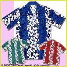 Hibiscus Lei Panel Hawaiian  Shirt