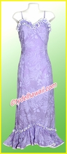 Purple Hawaiian Spaghetti Dress - 50% off