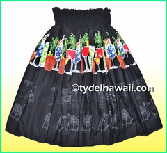 Hula Pa'u Skirt - 405Black
