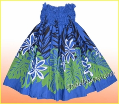 Hula Pa'u Skirt - 2512Navy