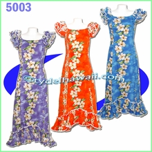 Tropical Hibiscus Hawaiian Island Dress - 5003
