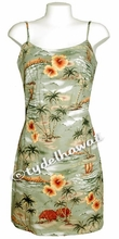 Island Paradise Hawaiian Sun Dress - Green