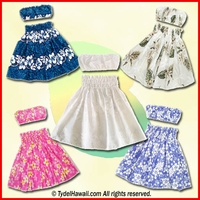 Keiki Hula Skirt Sets - For Children