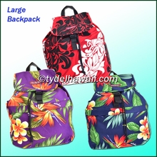 Large Hawaiian Print Backpack