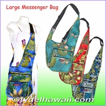 New ! Large Hawaiian Print Messenger Bag