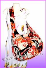Large Hawaiian Print Travel /Gym workout carry-on Bag - 304Orange