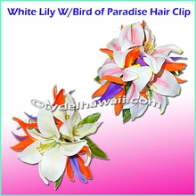 Lily W/Bird of Paradise Hair Clip