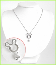 Mickey Mouse Head Silver Necklace