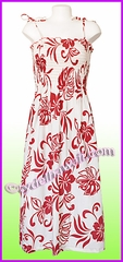 Mid-Length Hawaiian Smock Dress - 486Red