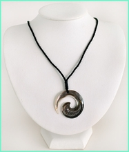 Mother of Pearl Sea Shell W/Cotton Cord Necklace